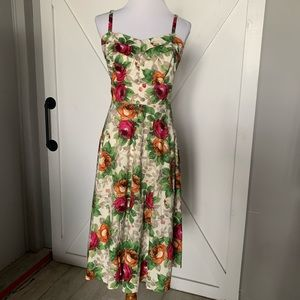 Light multi colored floral dress